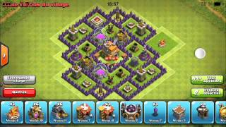 Village défensif HDV 7 Clash of Clans