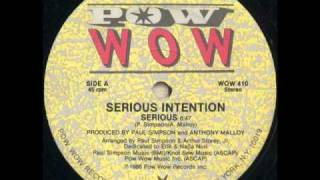 Serious Intention - Serious (Vocal)