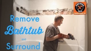 How to Remove a Fiberglass Bathtub and Surround -- by Home Repair Tutor