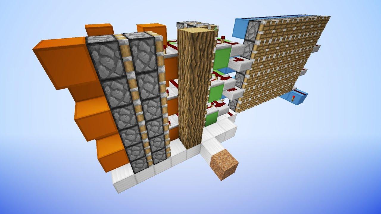 minecraft how to make a piston elevator mumbo jumbo
