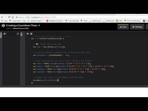 Creating a CountDown Timer Javascript - YouTube