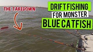 Drift Fishing Big Monster Blue Catfish (Need Net Man) Live Action