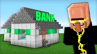 VILLAGER's BANK ROBBERY - Noob vs Pro family in Minecraft battle