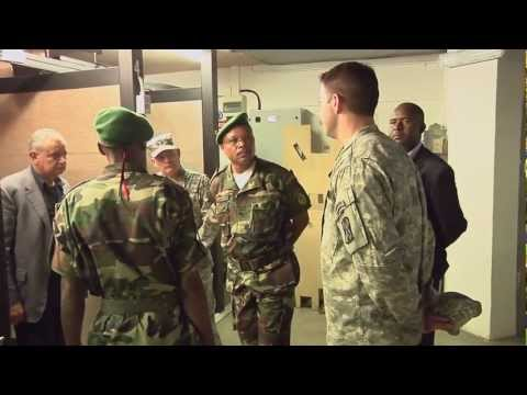 Angola's land forces commanader, Gen. Lucio Amaral, visits USARAF