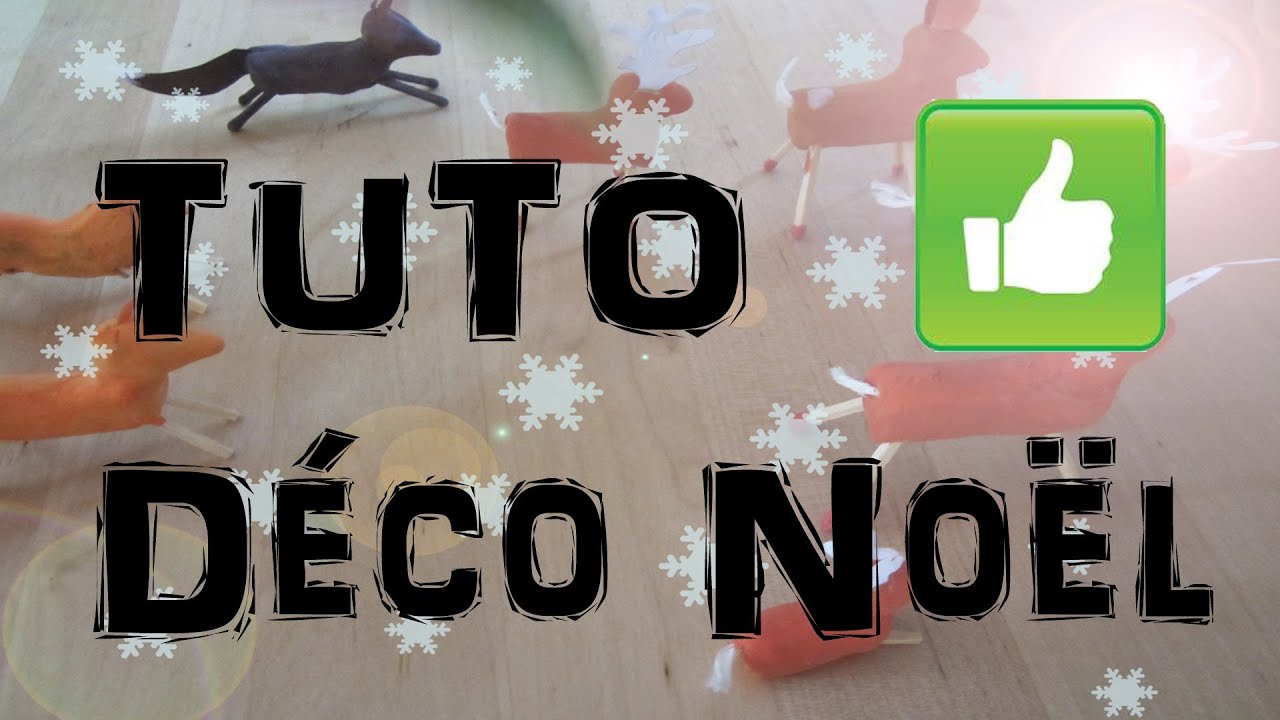 Tuto faire un cerf en argile d coration table de no l hd - Decoration de table de noel a fabriquer ...