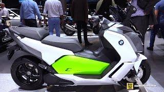 2015 BMW C-Evolution Electric Scooter - Walkaround - 2014 EICMA Milan Motorcycle Exhibition