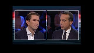 Konfrontation Christian Kern (SPÖ) - Sebastian Kurz (ÖVP) 11.10.2017 www gigalion.de