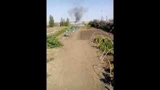 Несанкционированная горящая свалка в Подьем Михайловке