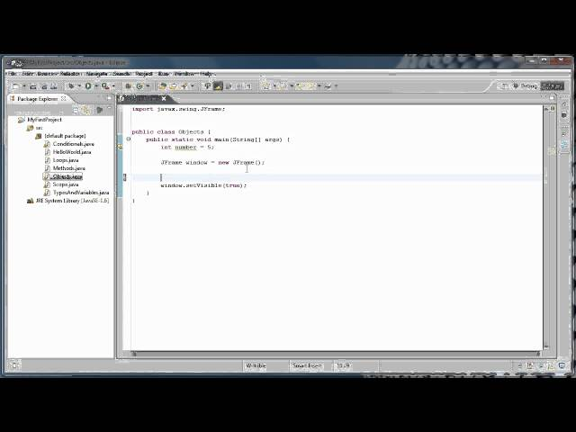 Java Programming  8 - Using Objects  creating a window - YouTube