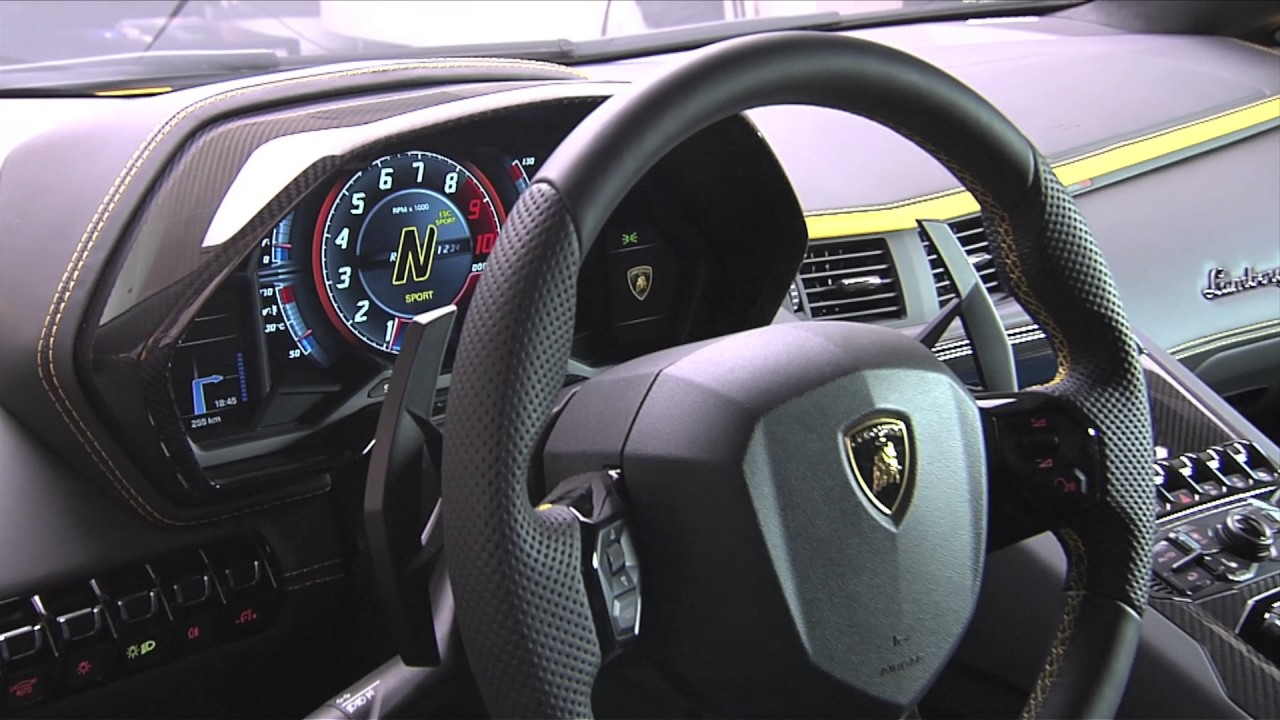 2017 Lamborghini Aventador S interior close-up - YouTube