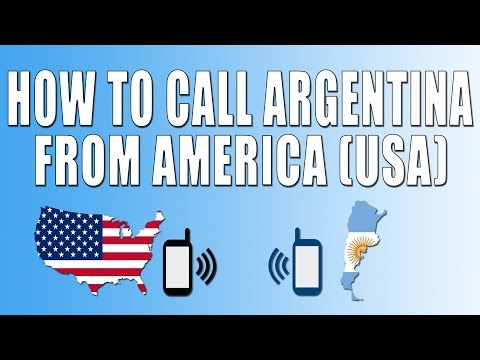 How To Call Argentina From America (USA)