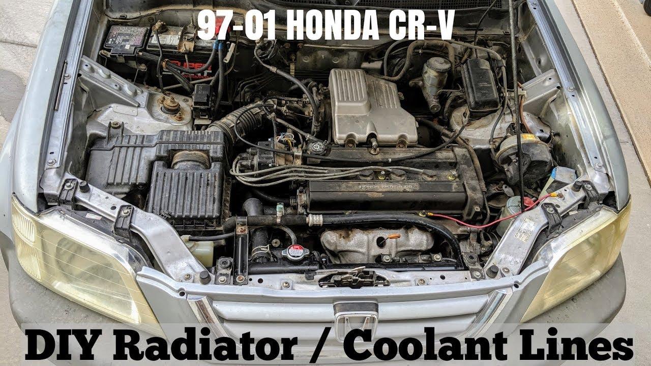 How To Replace Radiator & All Coolant Hoses on 97-01 Honda CRV (Coolant  Flush DIY) - YouTubeYouTube