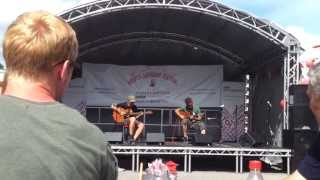 the showhawk duo playing 90s rave on acoustic guitar at bristol harbour festival 2013