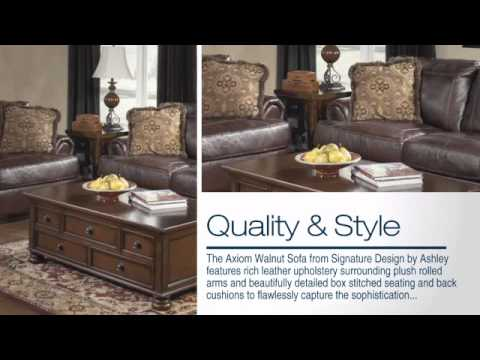 Axiom Walnut Sofa From Ashley Youtube