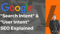 Search Intent SEO & User Intent SEO Explained [VERY Important in 2018]