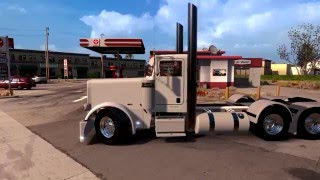 PART 1 THE CUSTOM WHITE PETERBILT TRI-AXLE PULLING AN OVERSIZE LOAD