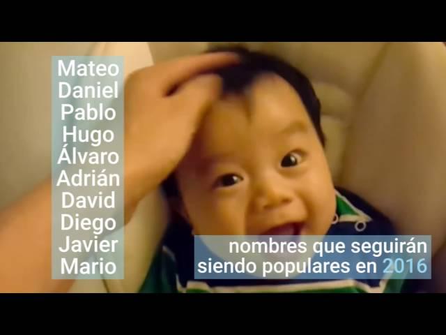 30 nombres de niño que serán tendencia en 2016