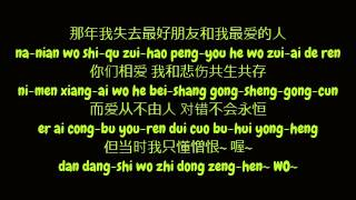 黄丽玲 (Huang Li Ling / A-Lin) - 好朋友的祝福 (Simplified Chinese/Pinyin Lyrics HD)