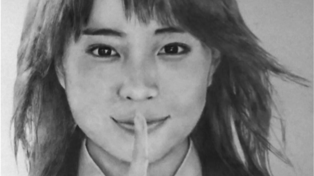 有名人の似顔絵 広瀬すずさんの人物画メイキング Pencildrawing