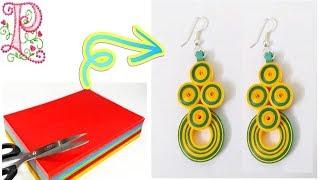 Earrings making    Paper earrings making at home    easy craft ideas    poppyalley