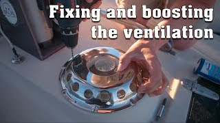 Making new active ventilation dome - Electric sailboat vlog 0026