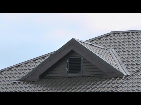Крыша 9. Слуховые окна вальмовой крыши. Холодный чердак
