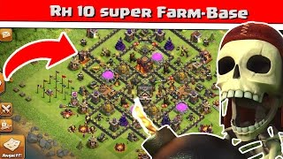 clash of clans   rh10 super farm base   reazor deutsch german hd