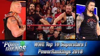 WWE Power Rankings 2018 Predictions | TOP 10 Superstars