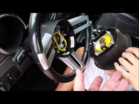 05 Mustang Clock Spring Replacement Part 1  YouTube