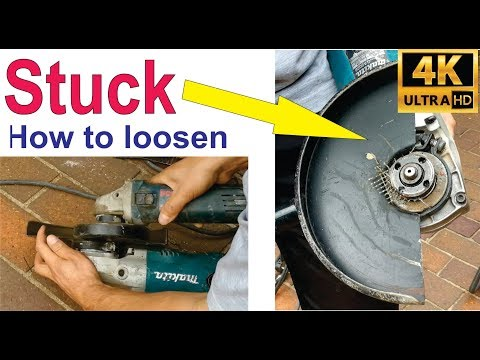 How To Loosen Angle Grinder Disk That Is Stuck - (jammed)