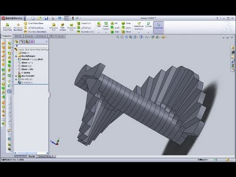 5.7 Treppe - SolidWorks 2010/2012 Training - Curve driven pattern - Helix and spiral