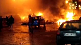 Пожар в ТЦ Рио в Москве (начало, итог) / Fire in Rio s.c. in Moscow 25.01.2017