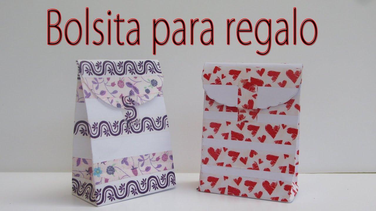 Manualidades para regalar bolsa para regalo - Bolsa de papel para regalo ...