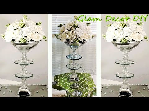 Dollar Tree DIY Glam Mirror Wedding Centerpiece