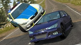 Realistic BeamNG Drive Police Chases! Police Car Crashes And Fails! #7 (BeamNG Drive)