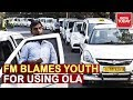 India's Auto Crash : FM Sitharaman Blames Youth For Using Ola/Uber And Not High GST