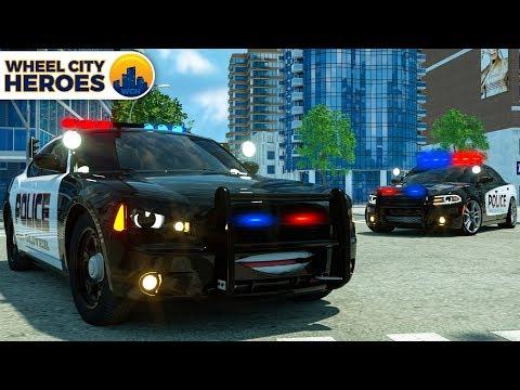 Sergeant Lucas the Police Car stops Dump Truck - Wheel City Heroes (WCH) - Cars Cartoon Series