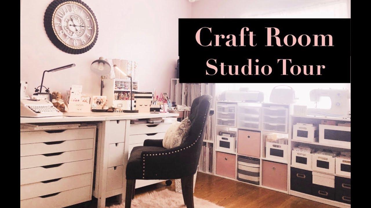 My New Craft Room Studio Tour September 2019 Youtube