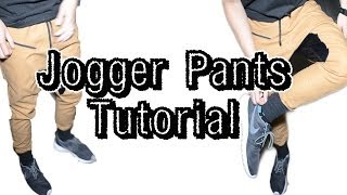 DIY: How to make Jogger Pants Tutorial | From Scratch #8