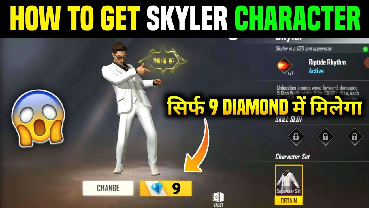 Sirf 9 Diamond Me Skyler Character Milega ✔️ || How to Get Skyler Character In Free Fire