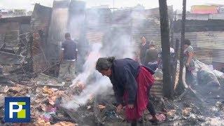 Cegado por la ira y el alcohol, pandillero quemó un poblado porque no le vendieron más licor