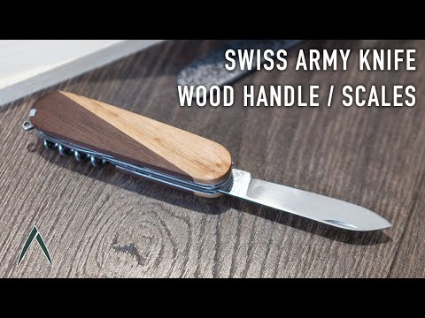 Swiss Army Knife Wood Handle / Small Woodworking Project