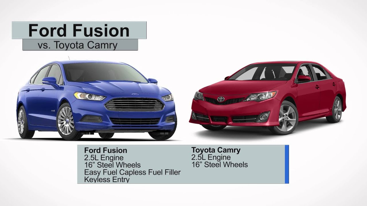 2014 Ford Fusion Vs Toyota Camry