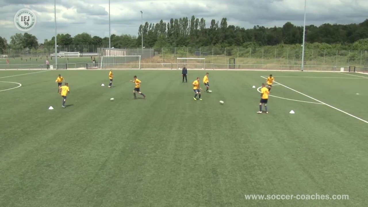 Attacking Soccer 4 - Excellent Drill One Touch-Combination Play