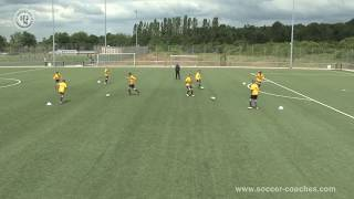 Attacking Soccer 4 - Exellent  Drill One Touch-Combination Play