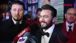 بالفيديو.. خفة دم تامر حسني 'هتموت من الضحك'