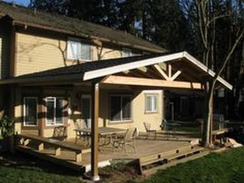 Covered Deck Designs Pictures - YouTube on Covered Back Deck Designs id=42830