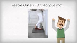 Anti-Fatigue Kitchen Floor Mat for hard floors and standing desks
