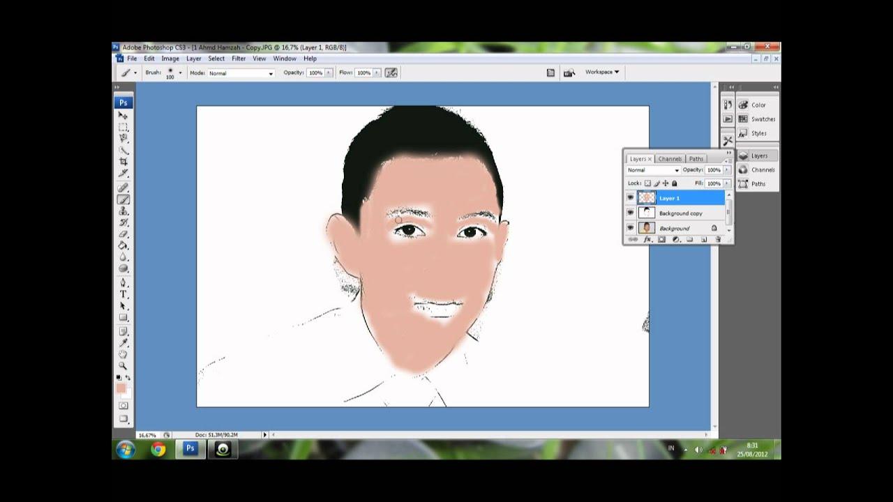 belajar photoshop membuat foto menjadi kartun cara membuat