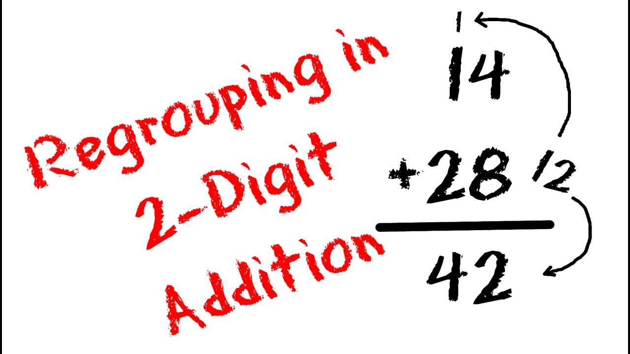 2 Digit Addition with Regrouping Carrying and Place Value for – 2 Digit Addition with Regrouping Worksheet